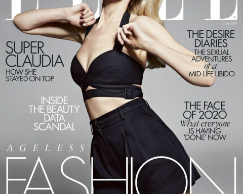 Claudia Schiffer covers Elle UK May 2020 by Sebastian Kim