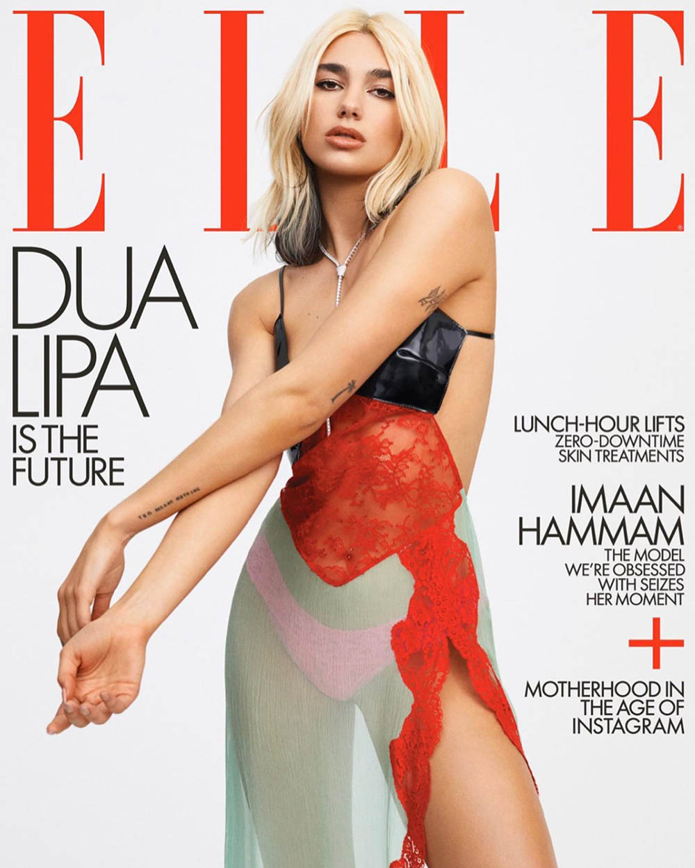 Dua Lipa covers Elle US May 2020 by Zoey Grossman