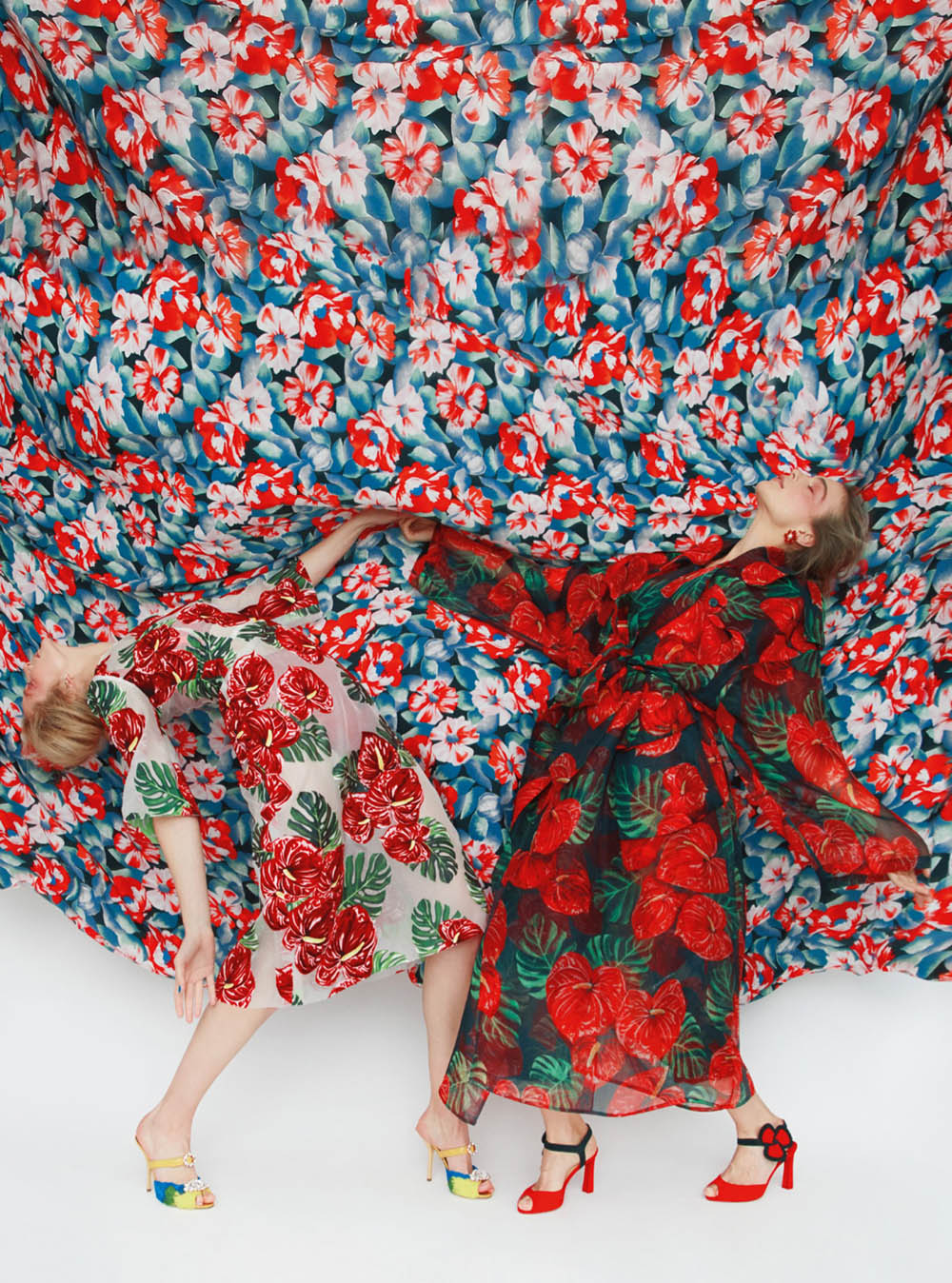 Eniko Mihalik and Kim Noorda by Erik Madigan Heck for Harper's Bazaar UK May 2020