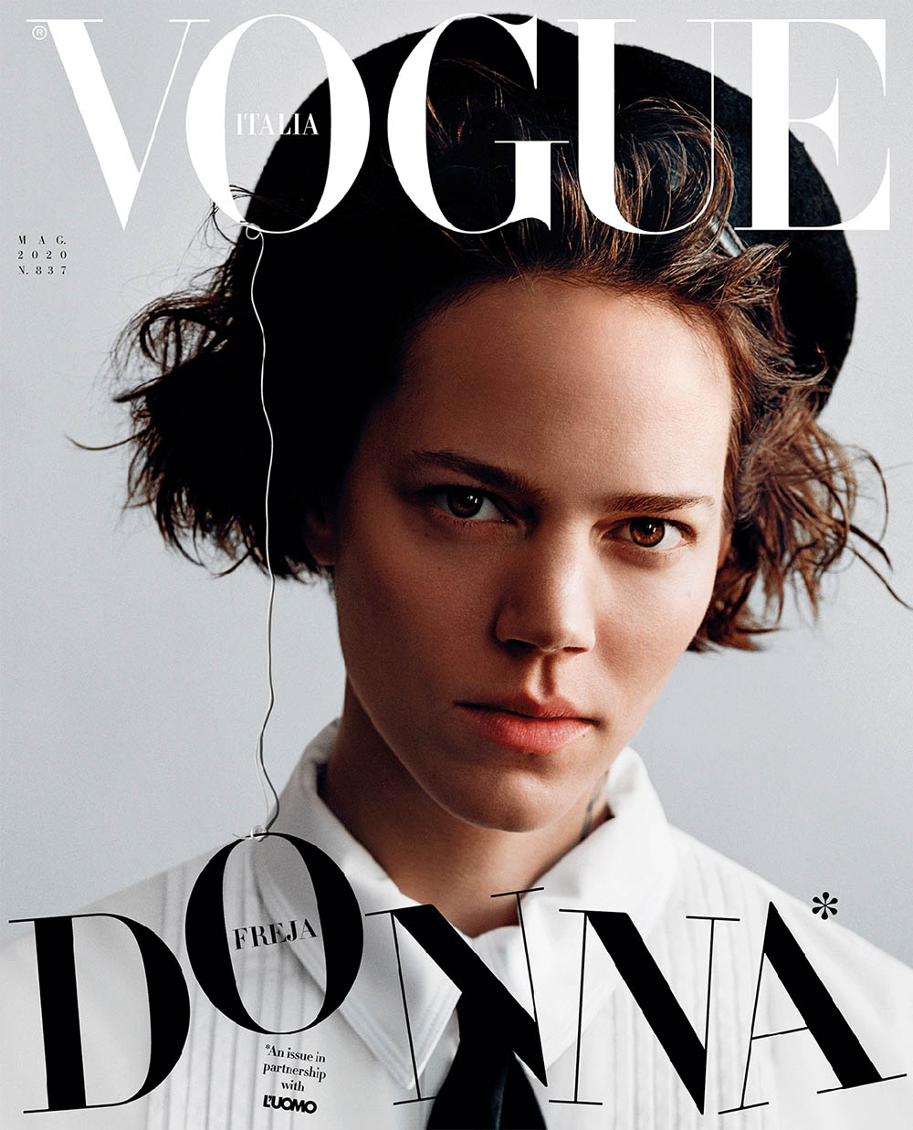 Freja Beha Erichsen covers Vogue Italia May 2020 by Alasdair McLellan