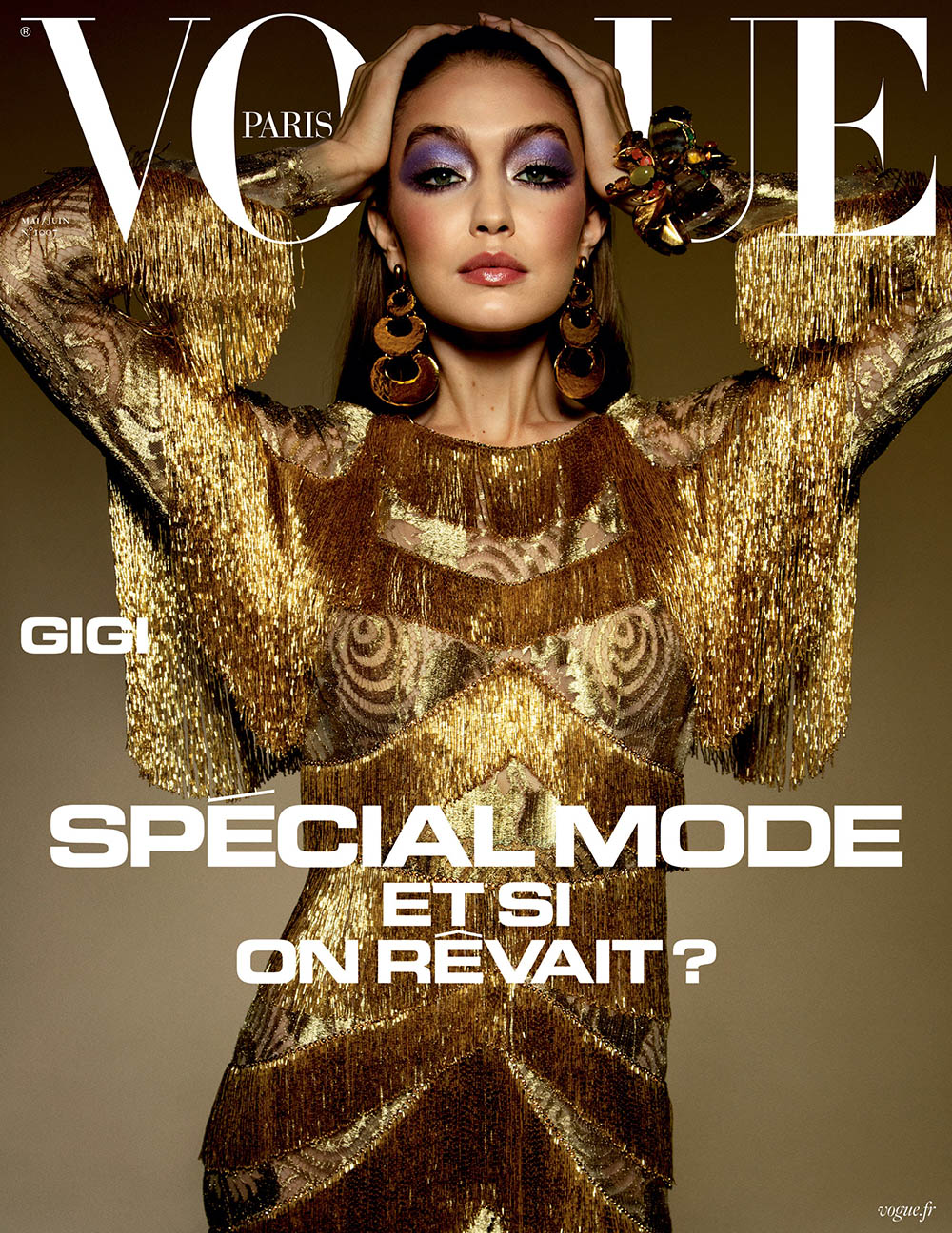 Gigi and Bella Hadid cover Vogue Paris May June 2020 by Inez and Vinoodh