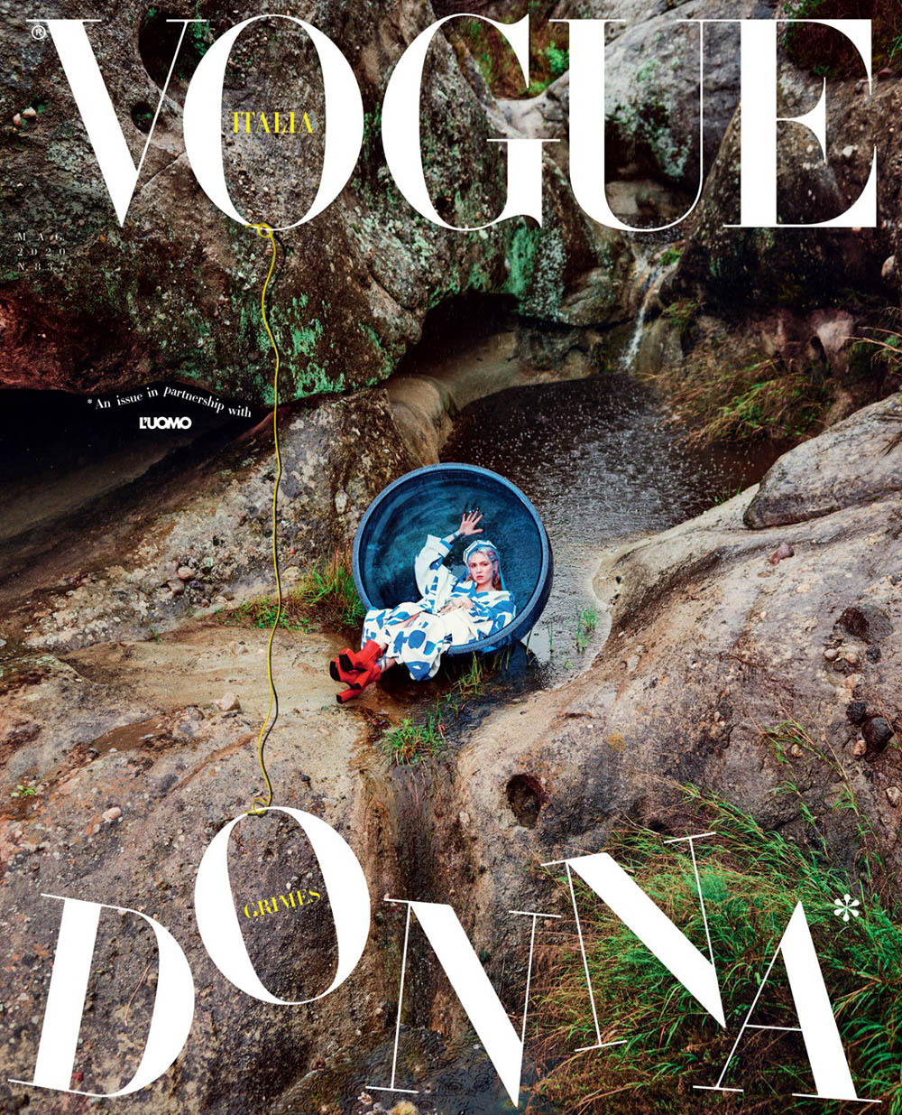 Grimes covers Vogue Italia May 2020 by Ryan McGinley