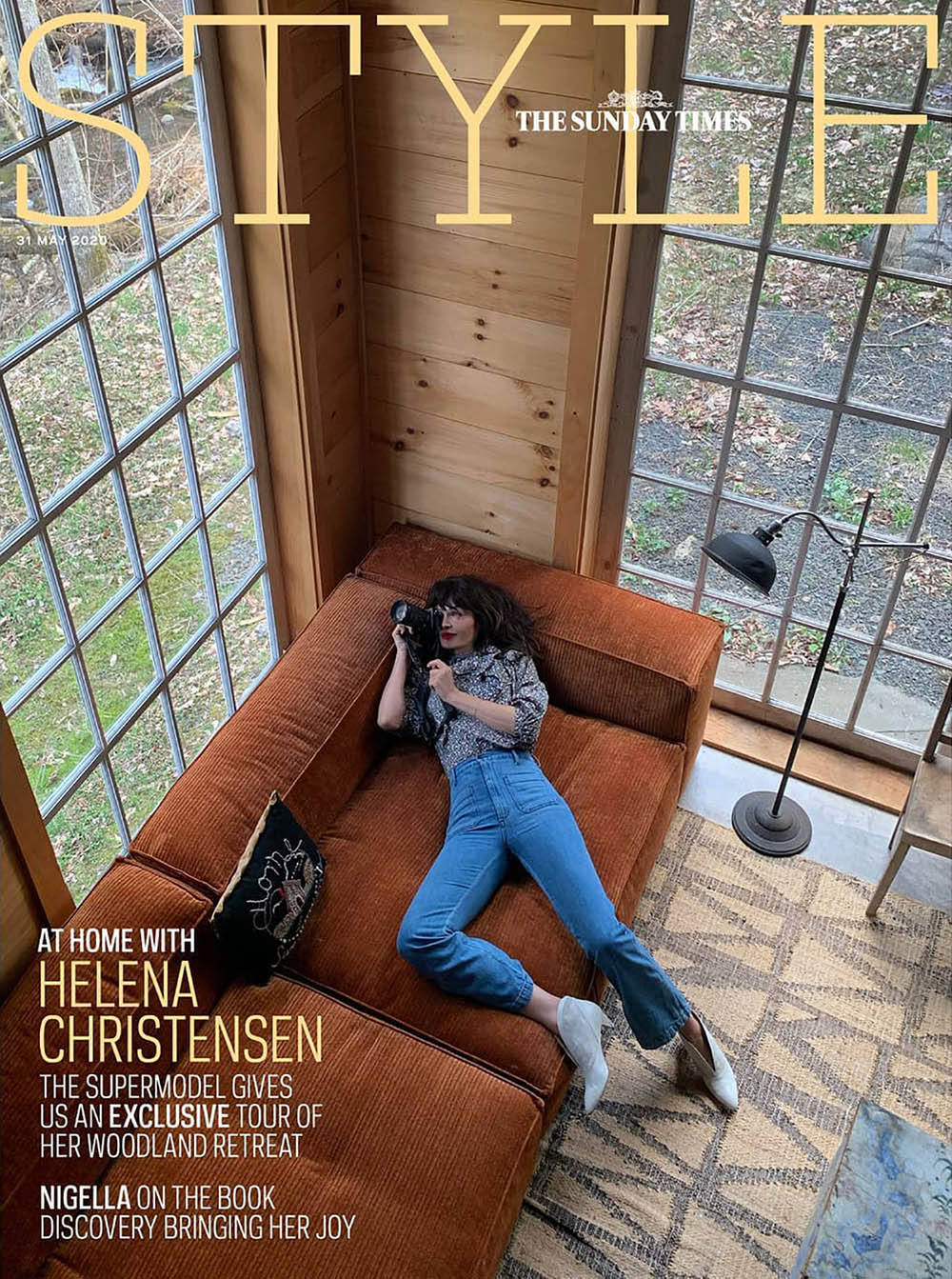 Helena Christensen covers The Sunday Times Style May 31st, 2020 by Helena Christensen