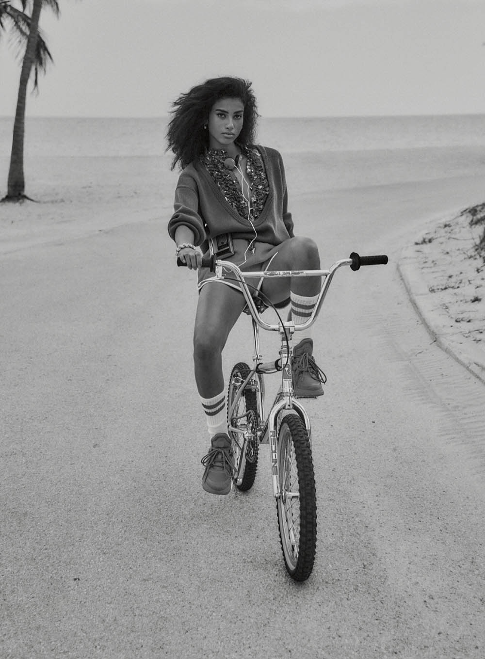 Imaan Hammam by Chris Colls for Elle US May 2020