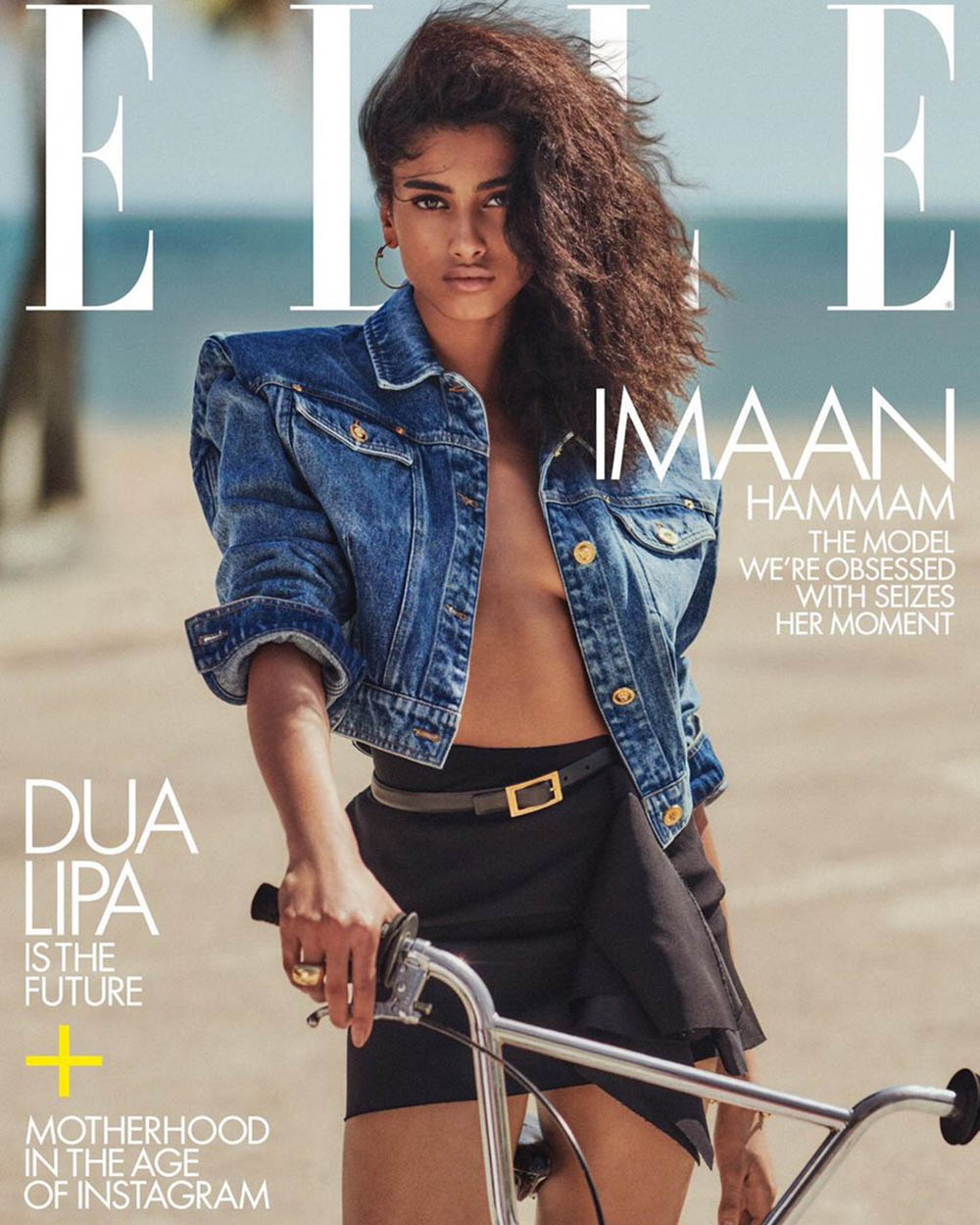 Imaan Hammam covers Elle US May 2020 by Chris Colls