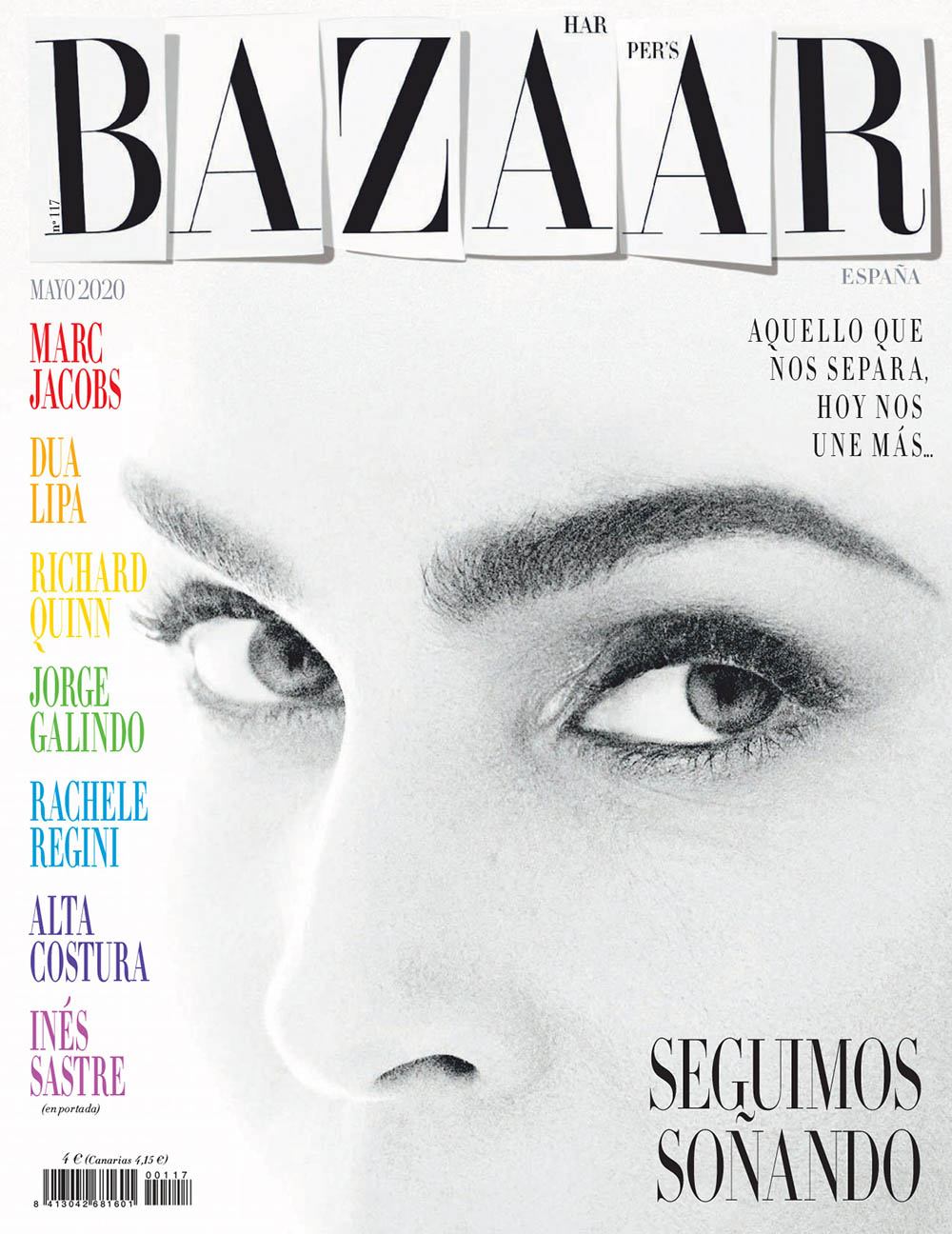 Inés Sastre covers Harper's Bazaar Spain May 2020 by Xavi Gordo
