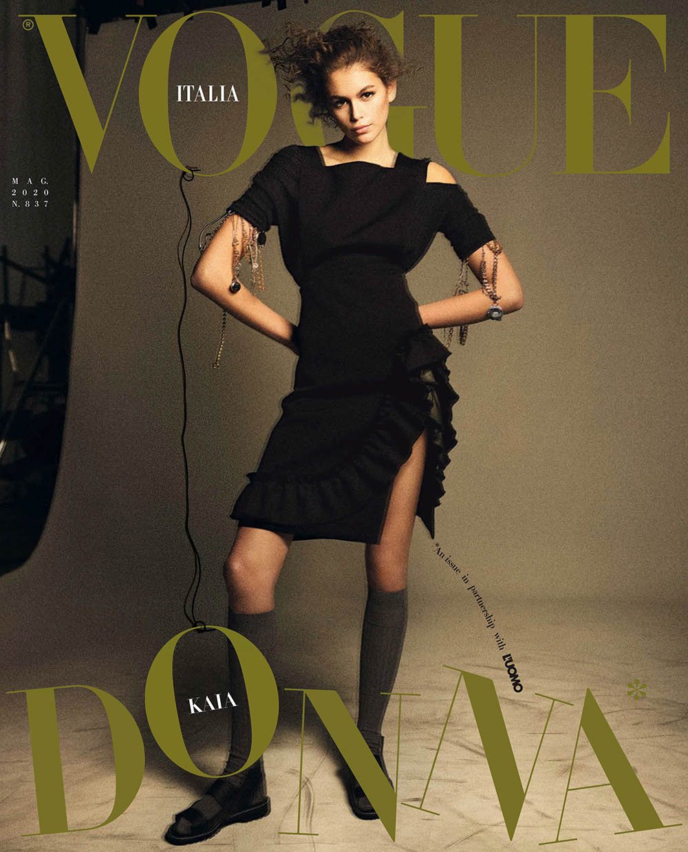 Kaia Gerber covers Vogue Italia and L'Uomo Vogue May 2020 by Karim Sadli