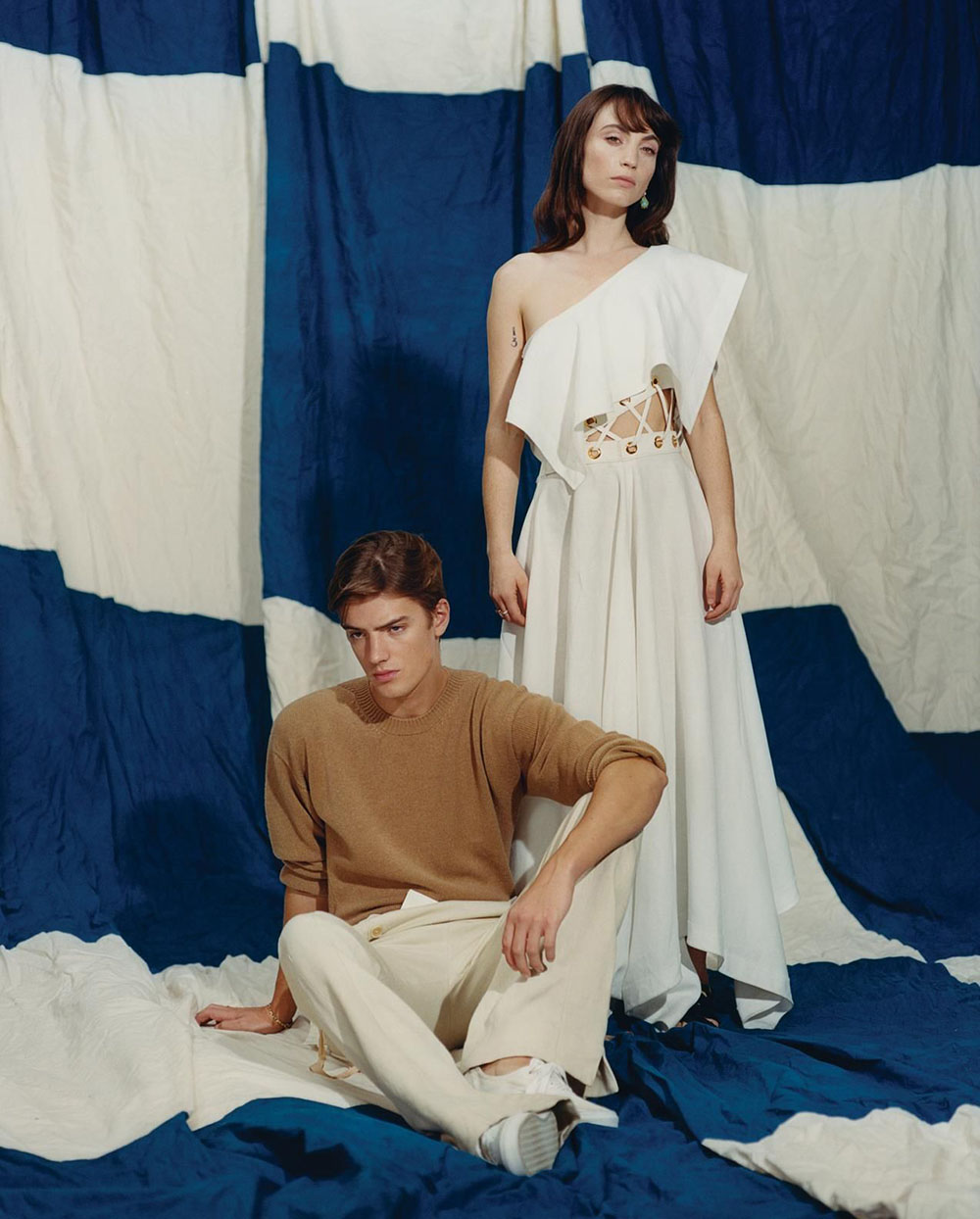 Katerina Tannenbaum and Theo Ford by Dham Srifuengfung for WSJ. Magazine May 2020