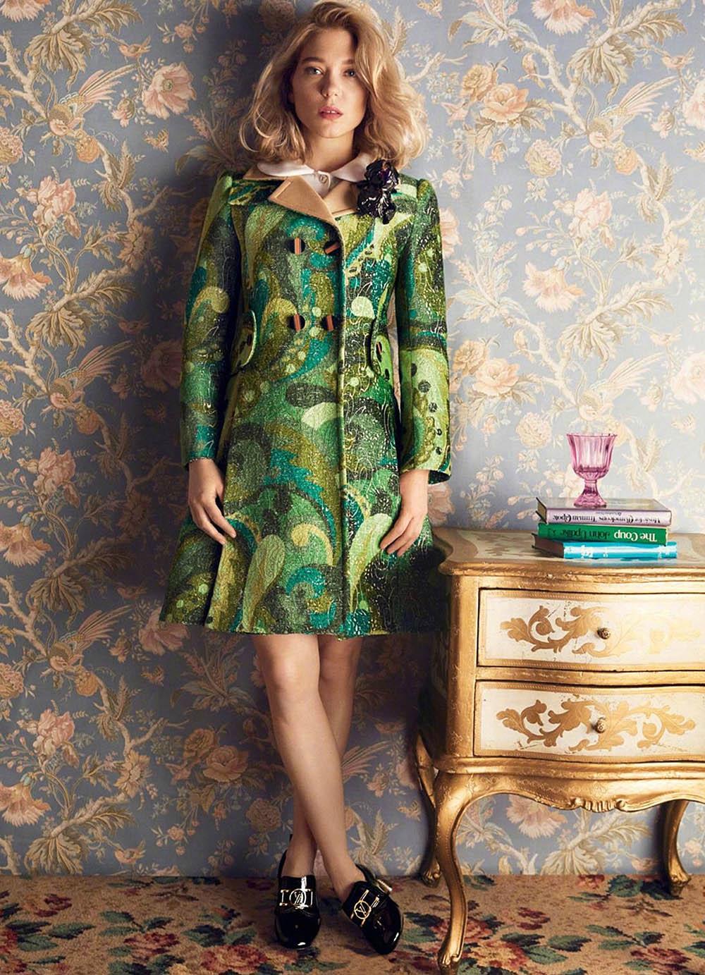 Léa Seydoux covers Harper's Bazaar UK May 2020 by Alexi Lubomirski
