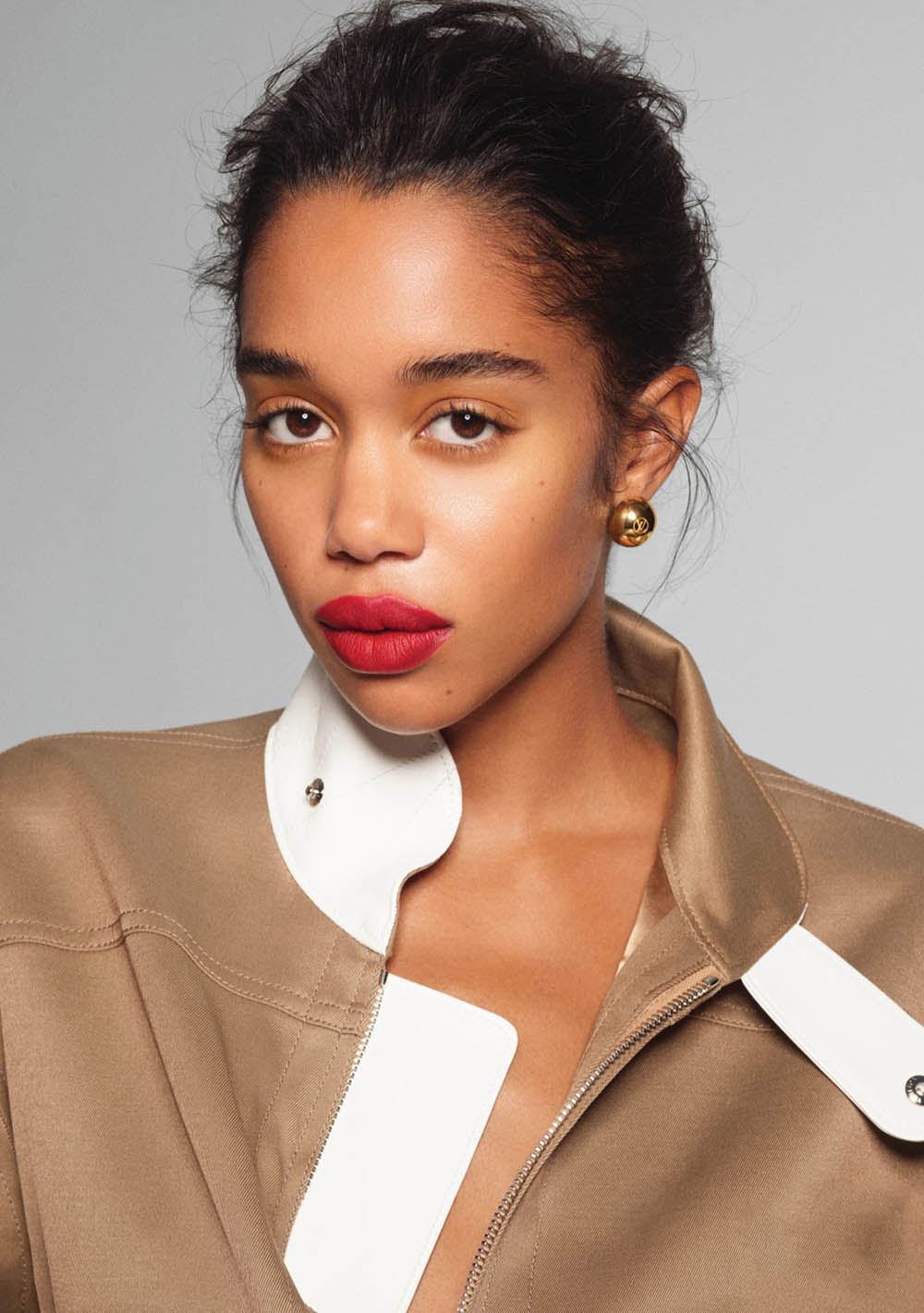 Laura Harrier by Phil Poynter for InStyle US May 2020