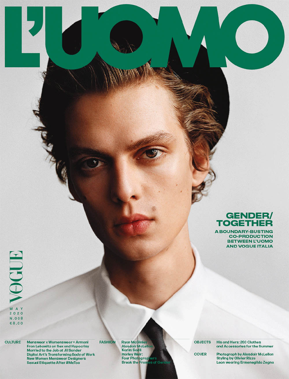 Leon Dame covers L'Uomo Vogue May 2020 by Alasdair McLellan