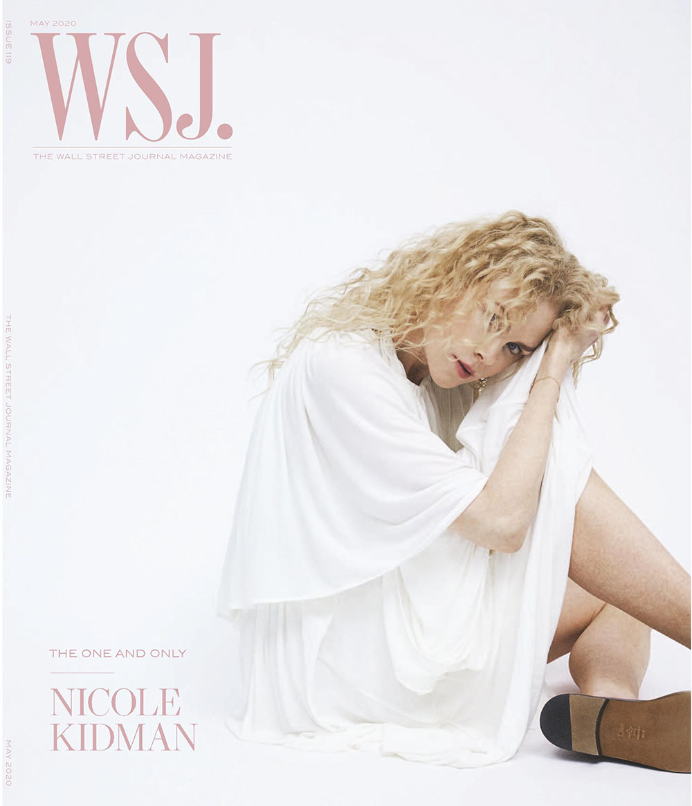 Nicole Kidman covers WSJ. Magazine May 2020 by Bibi Cornejo Borthwick
