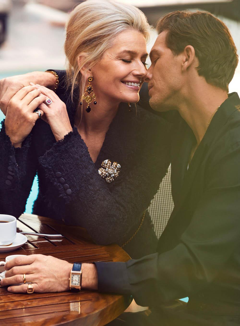 Paulina Porizkova and Adam Senn by Alexi Lubomirski for Harper's Bazaar US May 2020