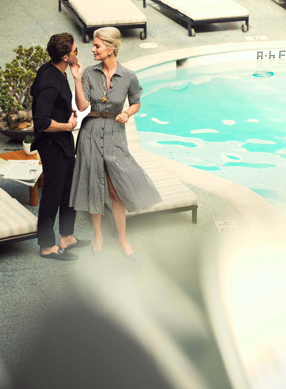 Paulina Porizkova and Adam Senn by Alexi Lubomirski for Harper's Bazaar US May 2020
