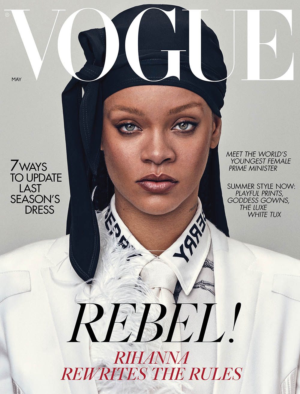 Rihanna covers British Vogue May 2020 by Steven Klein