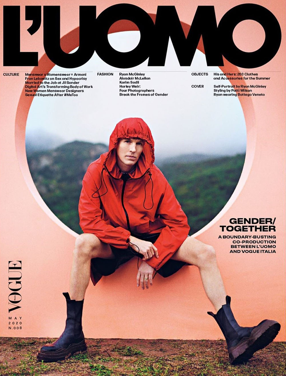Ryan McGinley covers L'Uomo Vogue May 2020 by Ryan McGinley