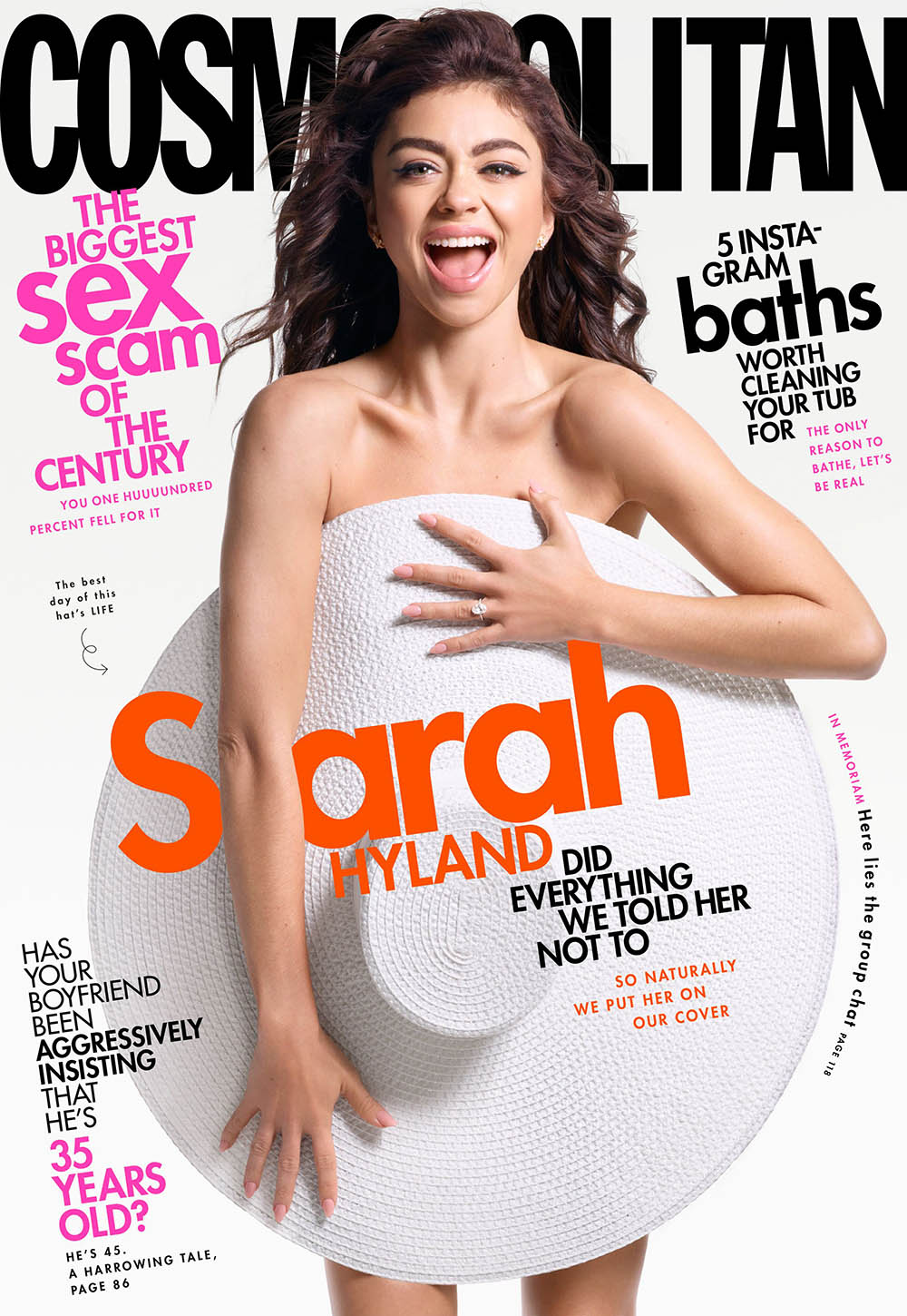 Sarah Hyland covers Cosmopolitan US May 2020 by Kerry Hallihan