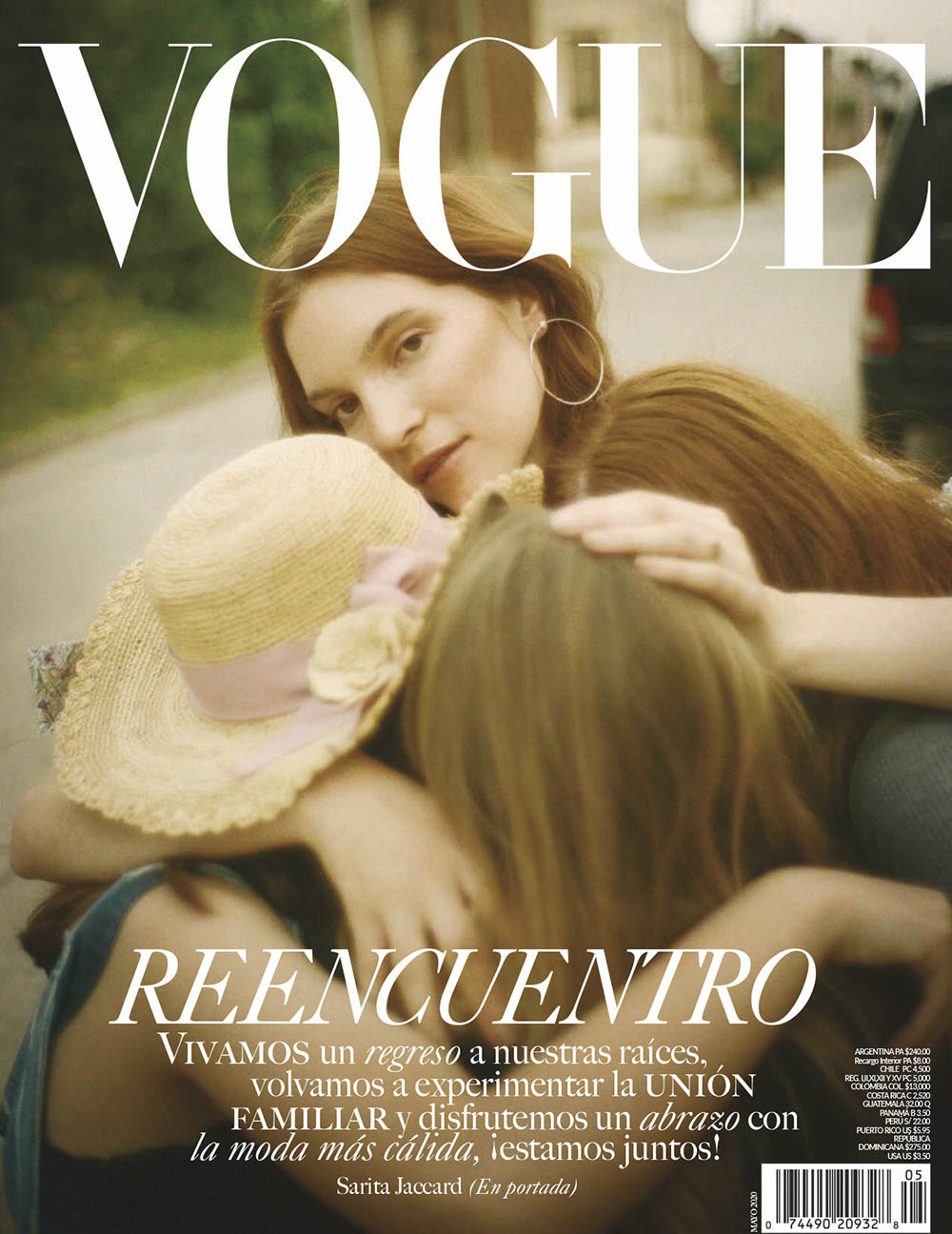 Sarita Jaccard covers Vogue Latin America May June 2020 by Tom Craig