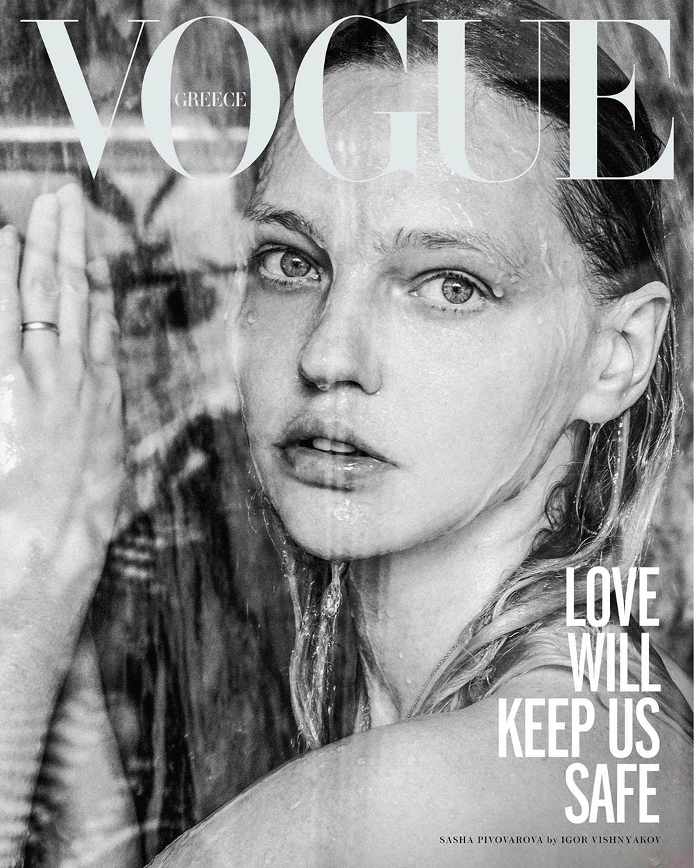 Sasha Pivovarova covers Vogue Greece May 2020 by Igor Vishnyakov