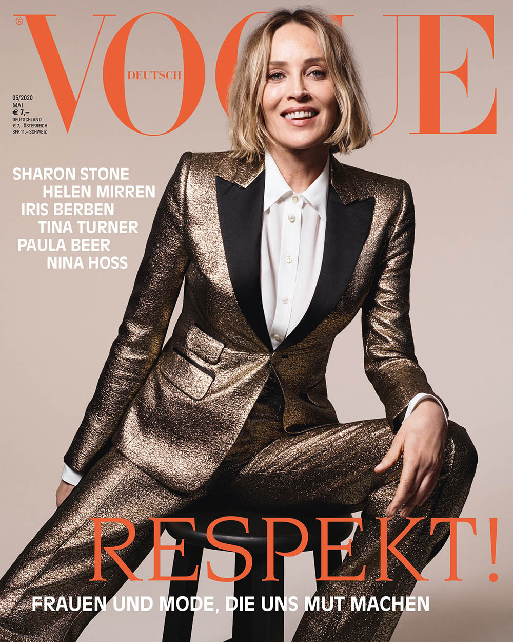 Sharon Stone covers Vogue Germany May 2020 by Liz Collins