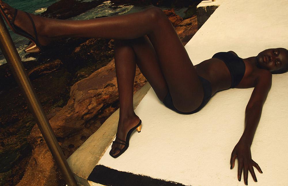 Adut Akech by Emma Summerton for British Vogue June 2020
