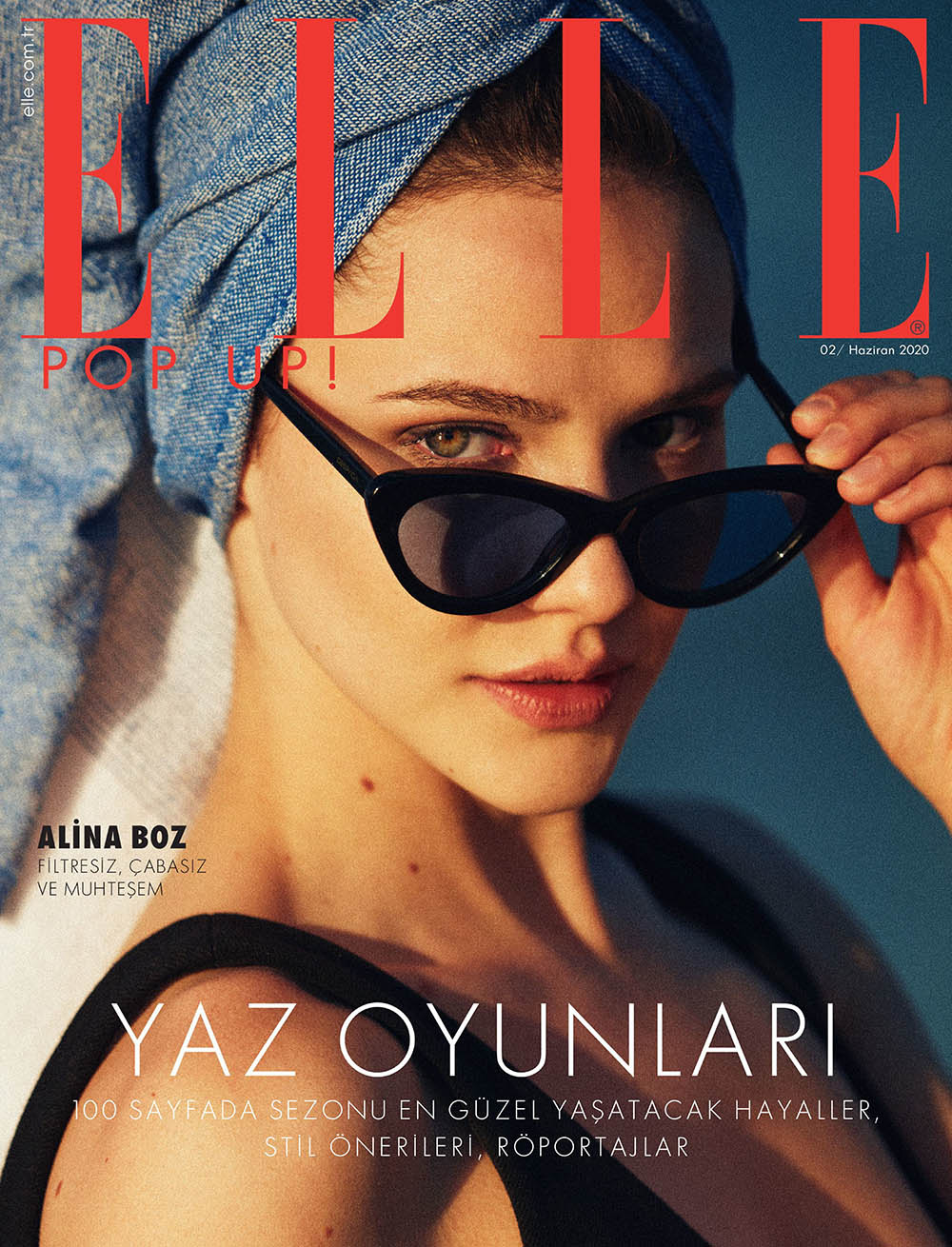 Alina Boz covers Elle Turkey June 2020 by Onur Dağ