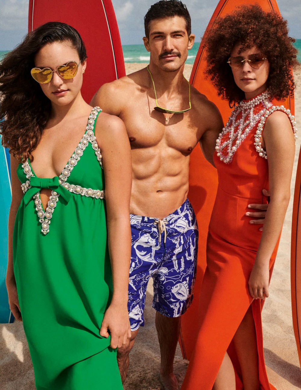 Andrés Velencoso Segura, Karolina Kurkova and others by Giampaolo Sgura for Vogue Germany June 2020