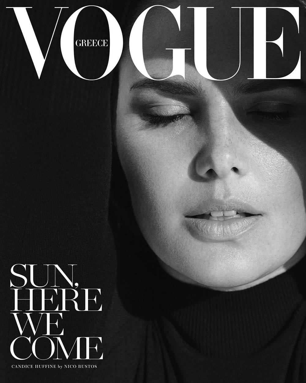 Candice Huffine covers Vogue Greece June 2020 by Nico Bustos