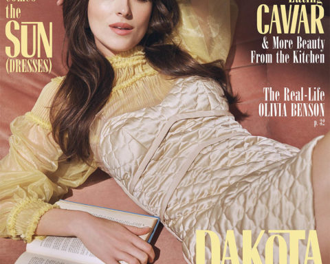 Dakota Johnson covers Marie Claire US Summer 2020 by Steven Pan