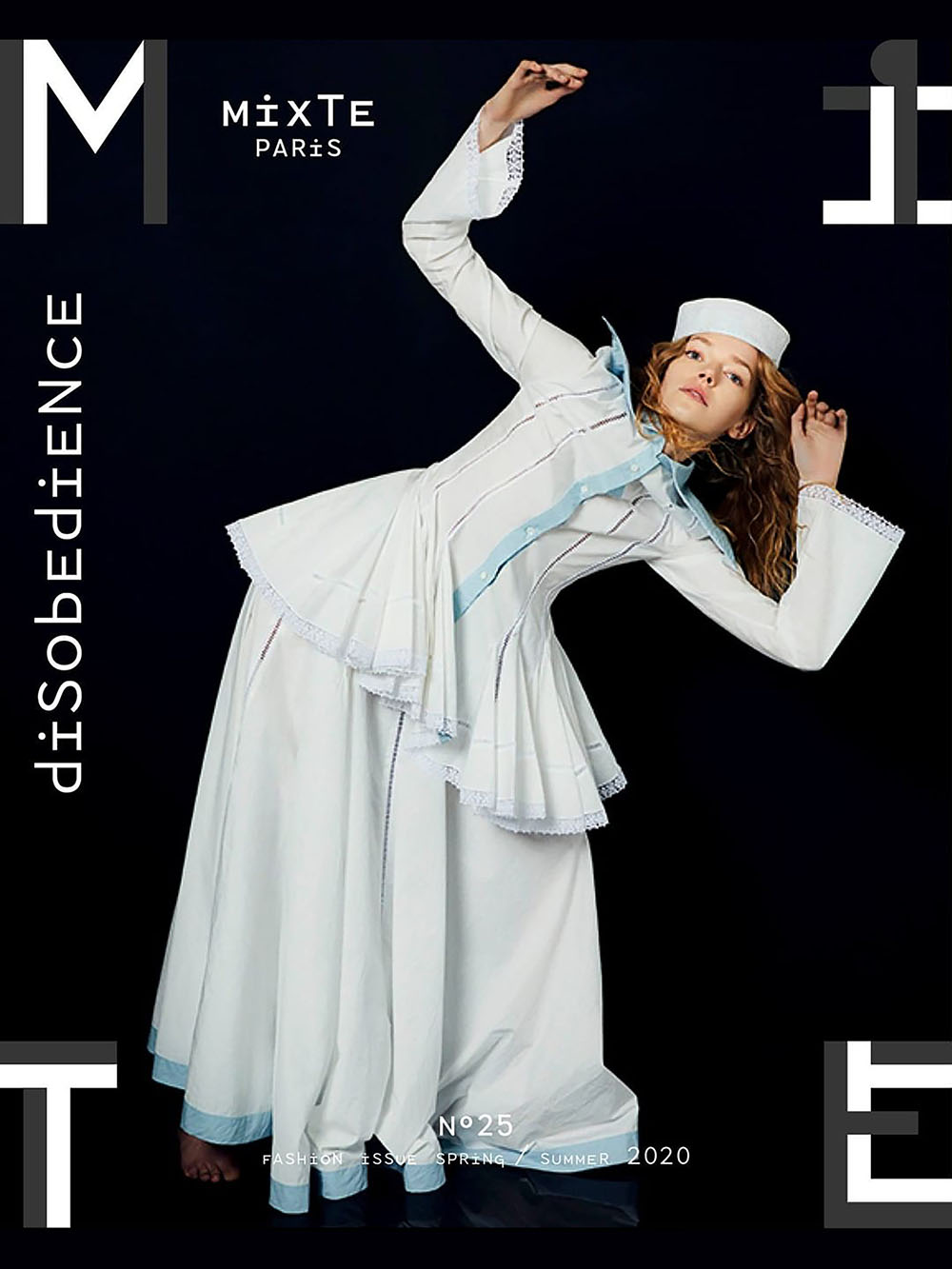 Eliza Kallmann covers Mixte Magazine Spring Summer 2020 by Greg Lin Jiajie