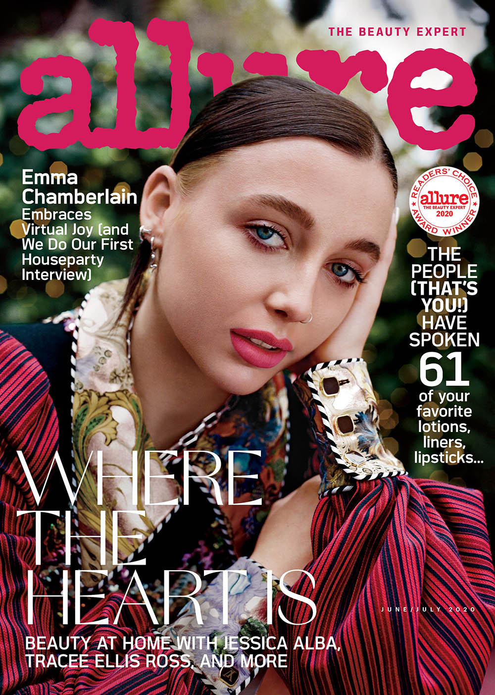 Emma Chamberlain covers Allure US June July 2020 by Lindsay Ellary