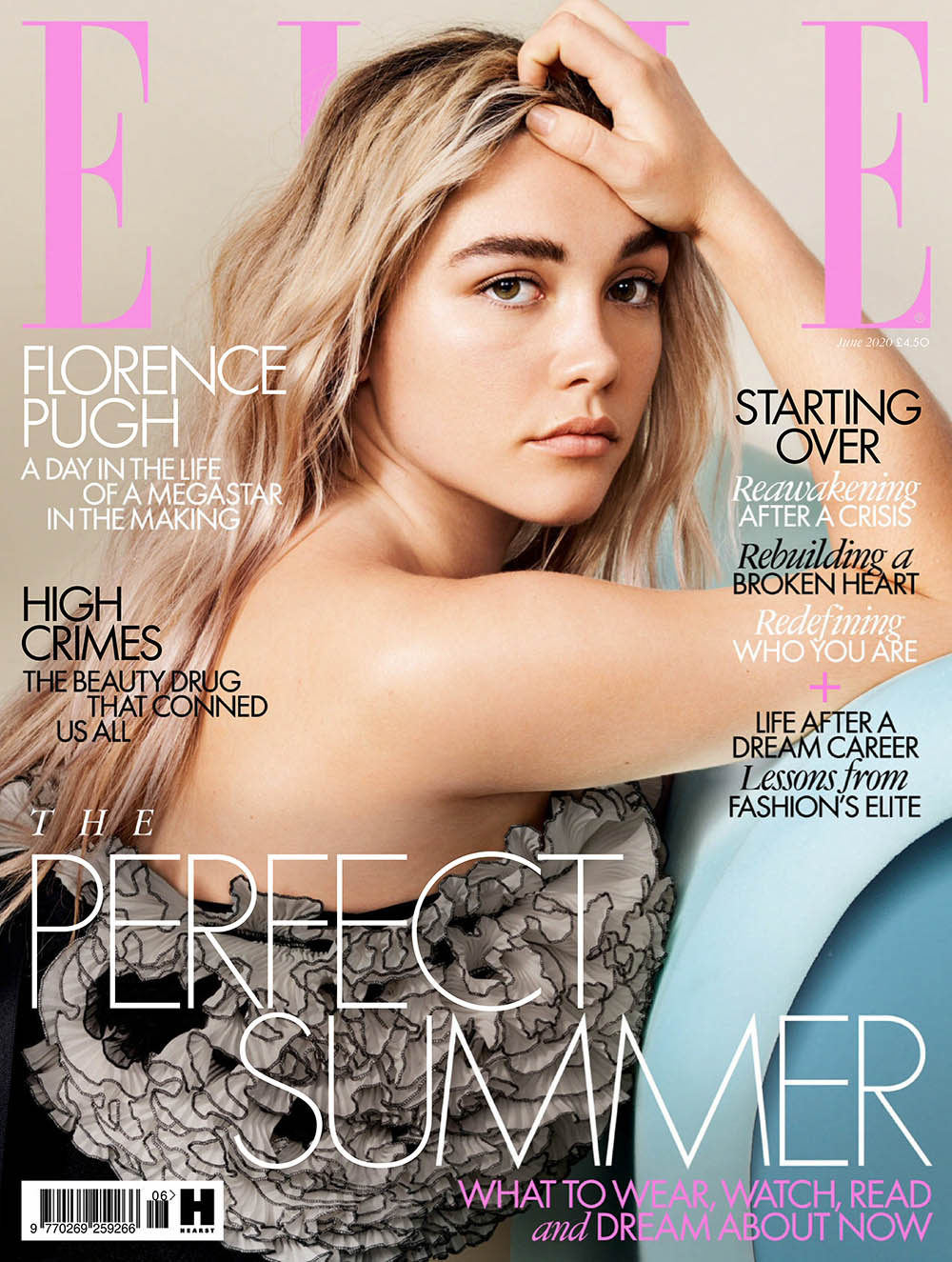 Florence Pugh covers Elle UK June 2020 by Liz Collins