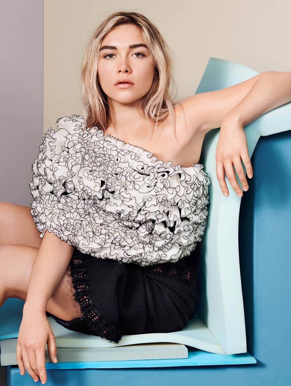 Florence Pugh covers Elle UK June 2020 by Liz Collins
