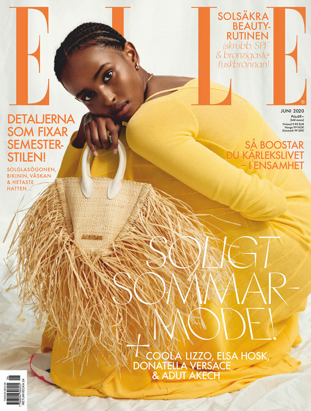 Ifrah Qasim covers Elle Sweden June 2020 by Sara Bille