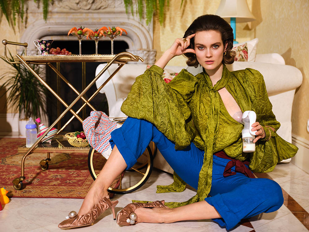 Jac Jagaciak covers Vogue Poland May June 2020 by Zuza Krajewska