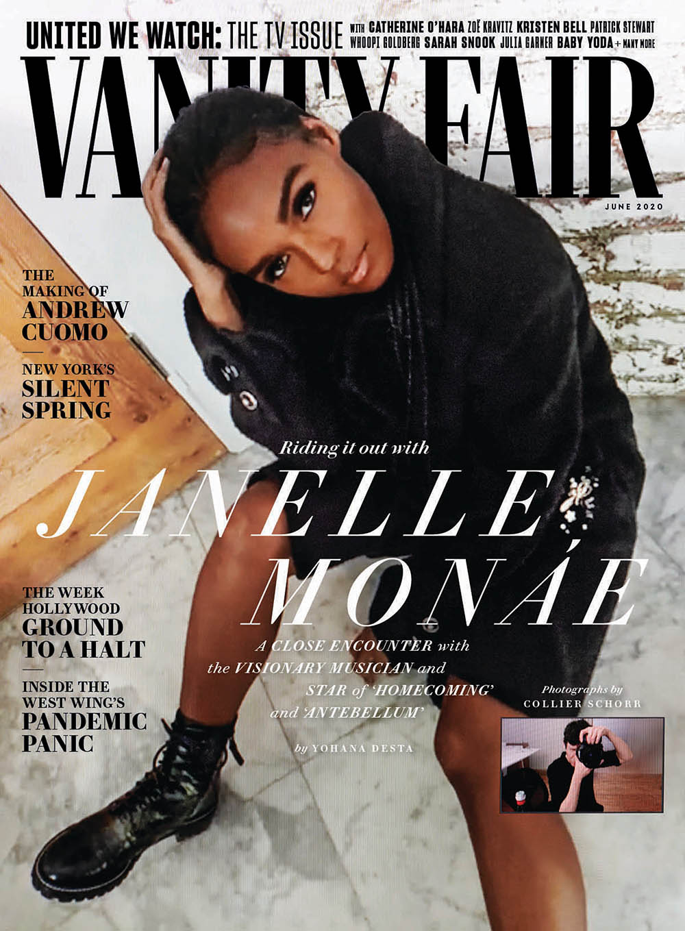 Janelle Monáe covers Vanity Fair June 2020 by Collier Schorr