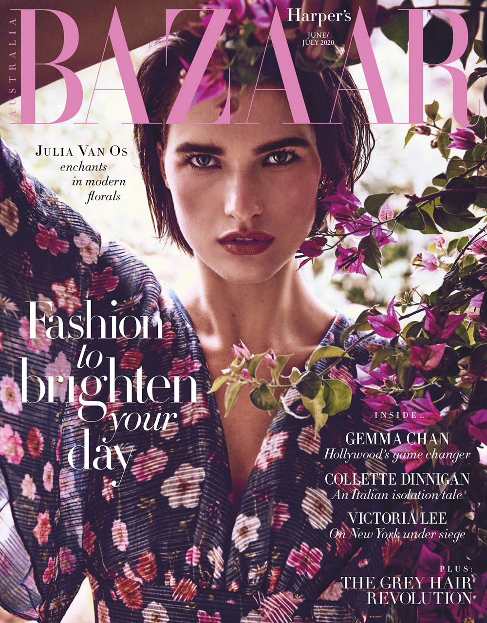 Julia van Os covers Harper's Bazaar Australia June July 2020 by Regan Cameron