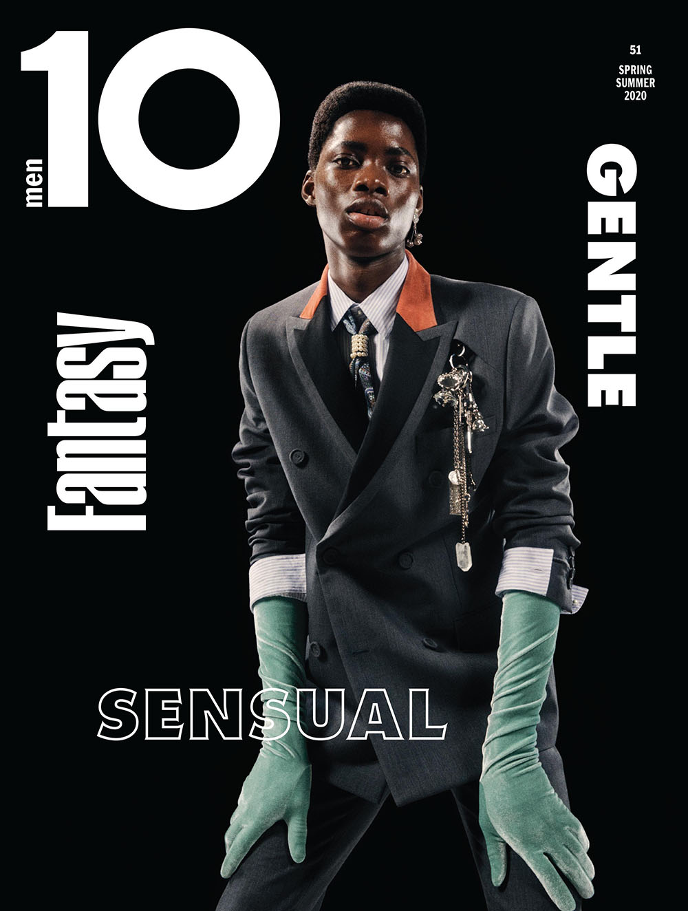 Kelvin George Amankwah covers 10 Men Magazine Spring Summer 2020 by David Vasiljevic