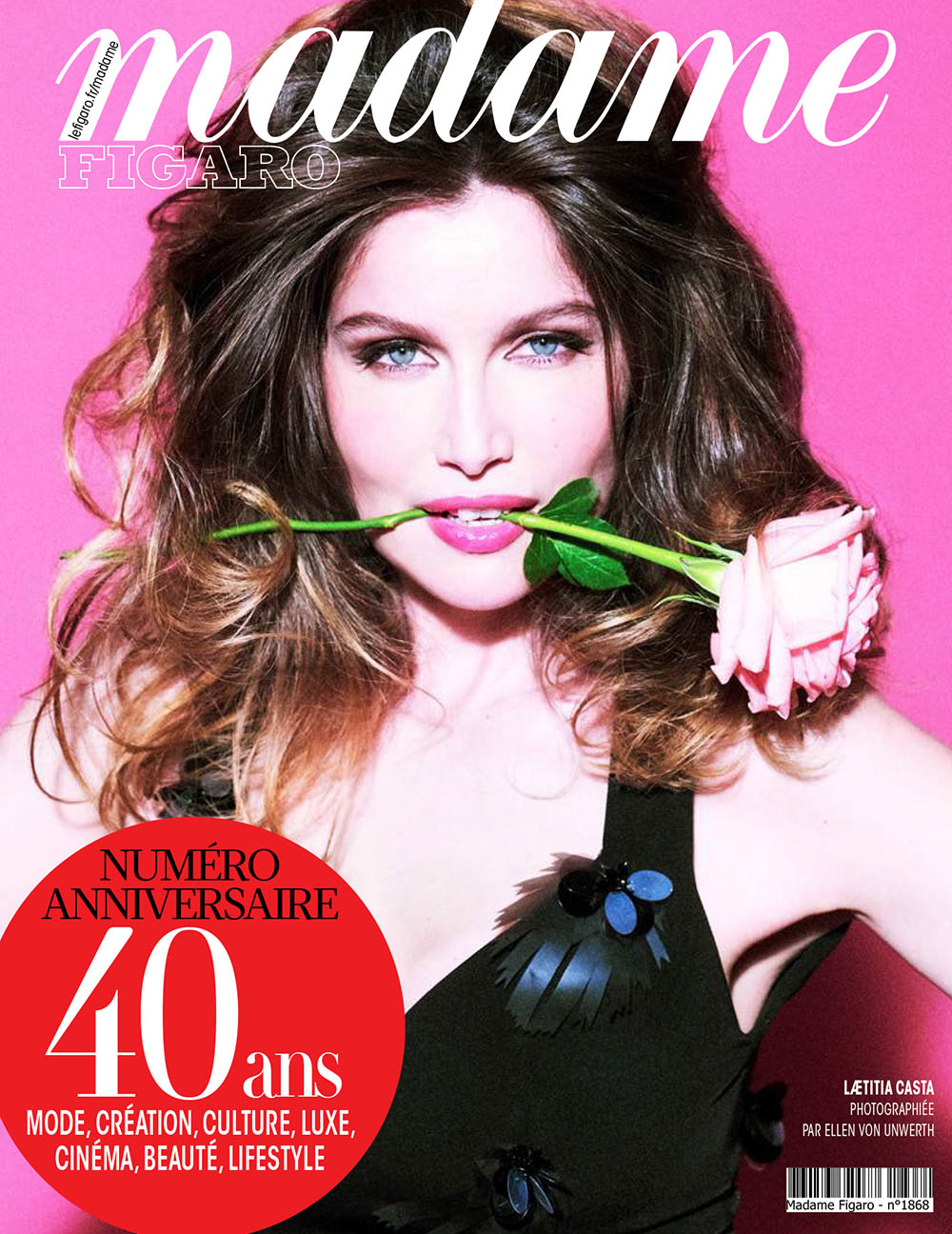 Laetitia Casta covers Madame Figaro June 12th, 2020 by Ellen von Unwerth