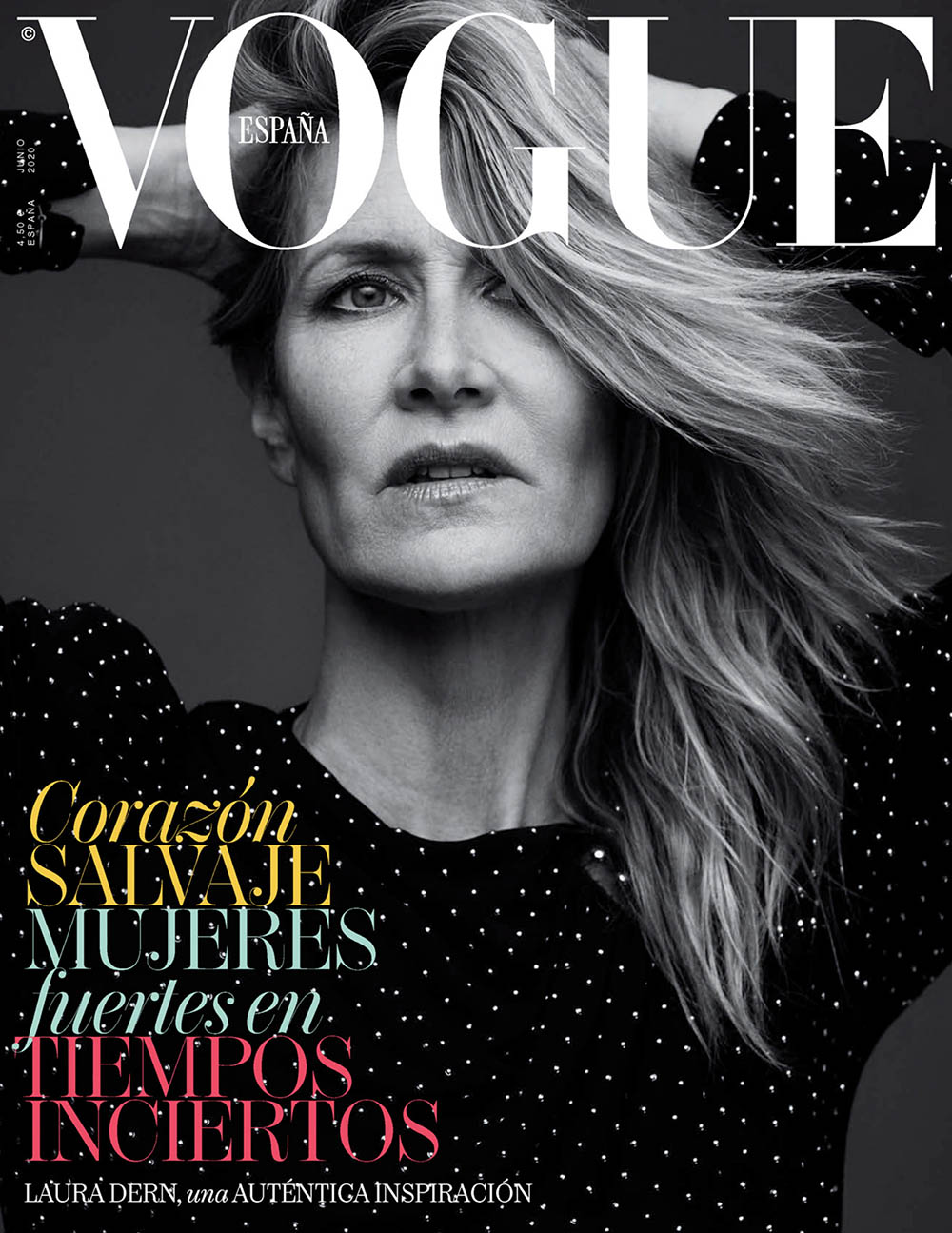 Laura Dern covers Vogue Spain June 2020 by Alexi Lubomirski