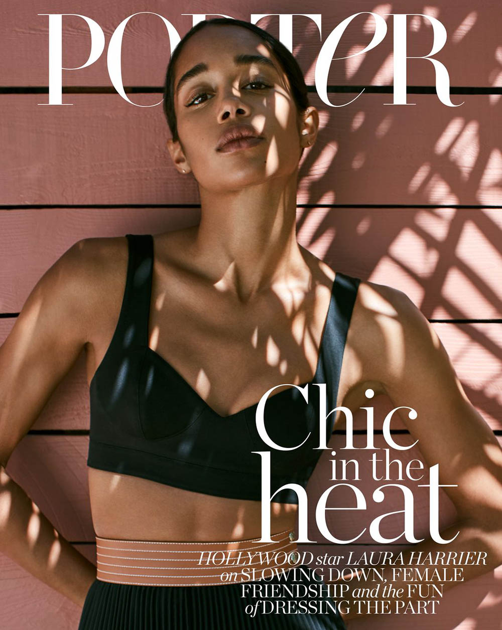 Laura Harrier covers Porter Magazine June 1st, 2020 by Sonia Szóstak