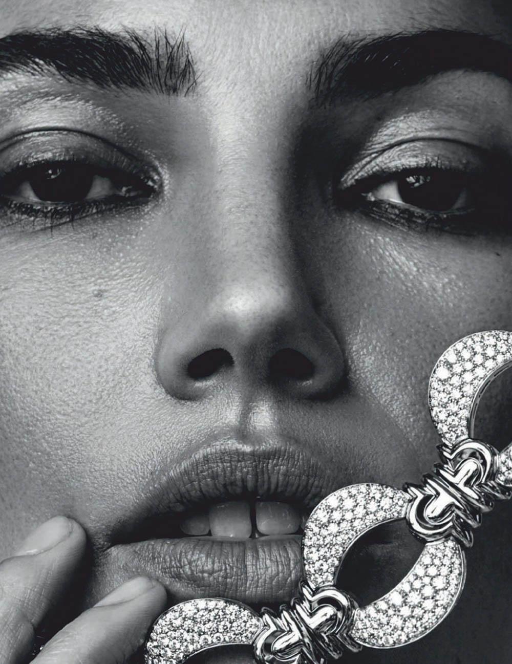 Lily Aldridge covers Harper's Bazaar Spain June 2020 by David Roemer