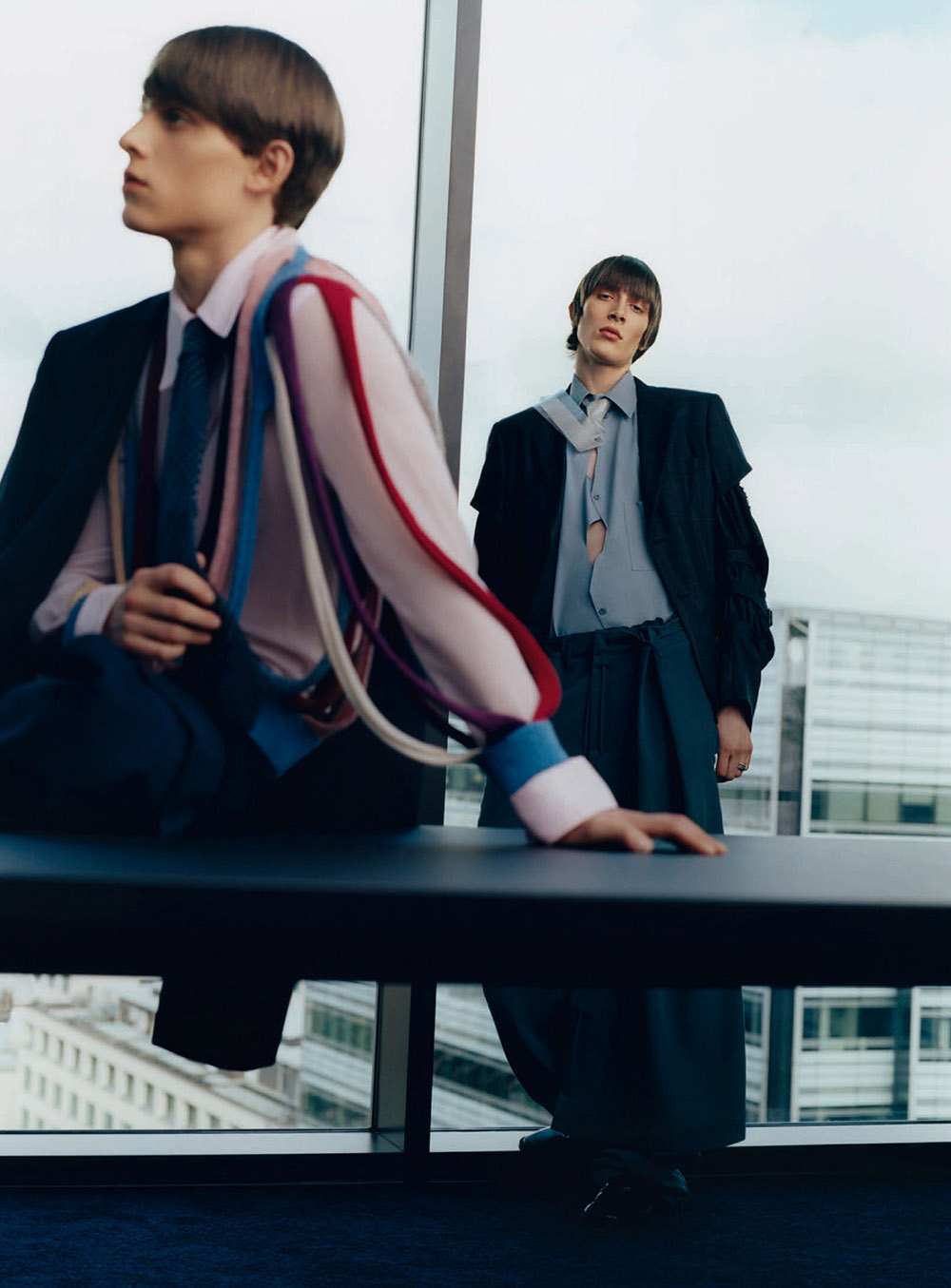 Maikls Mihelsons and Serge Sergeev by Greg Lin Jiajie for GQ Style China Spring Summer 2020
