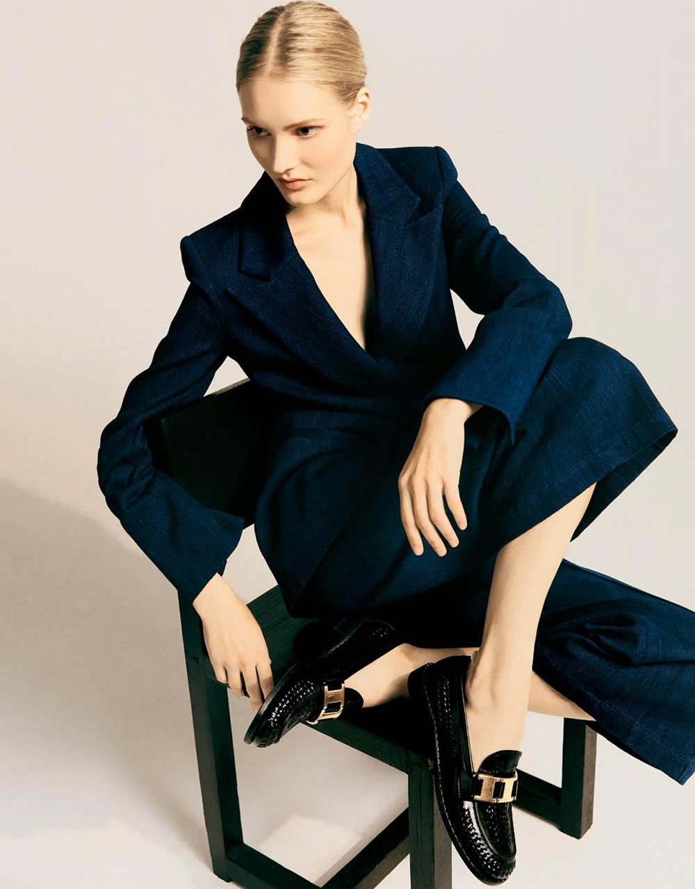 Nana Skovgaard by Levon Baird for Harper's Bazaar Australia June July 2020