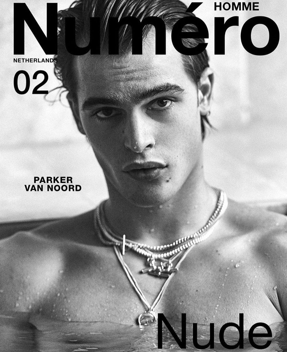 Parker van Noord covers Numéro Homme Netherlands Spring Summer 2020 by Philippe Vogelenzang