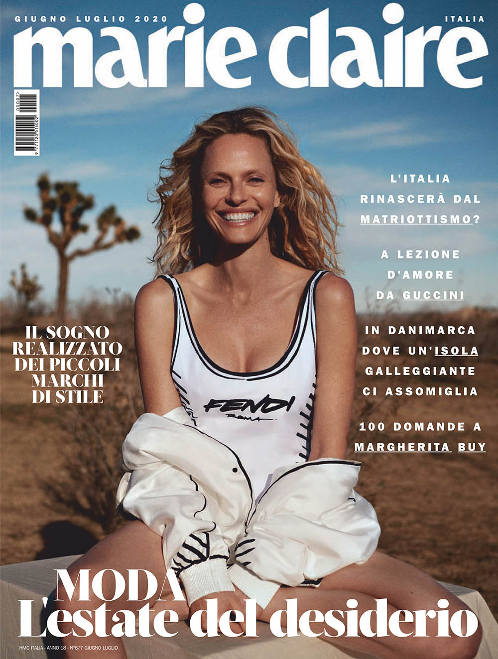 Rachel Roberts covers Marie Claire Italia June July 2020 by Jan Welters