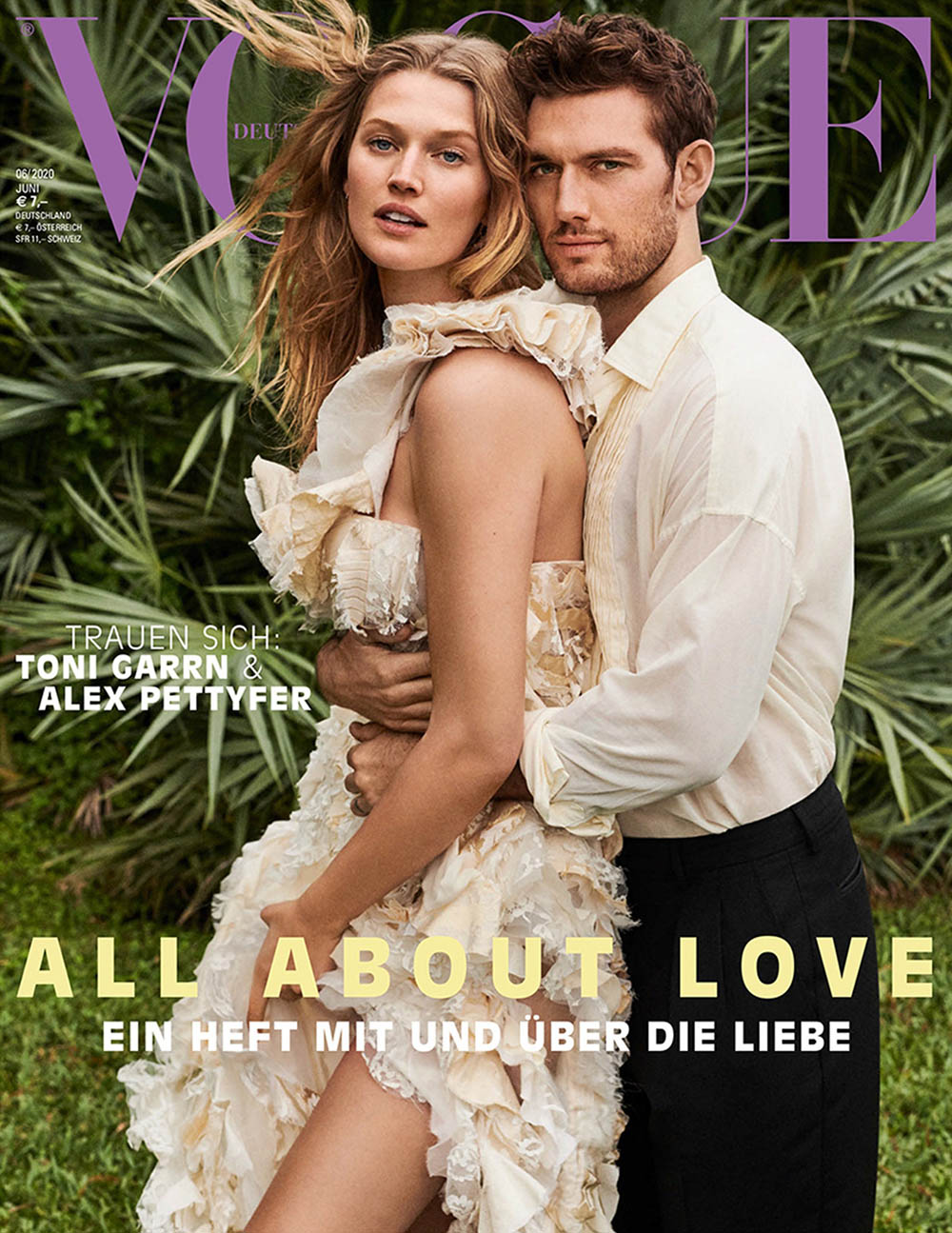 Toni Garrn and Alex Pettyfer cover Vogue Germany June 2020 by Giampaolo Sgura