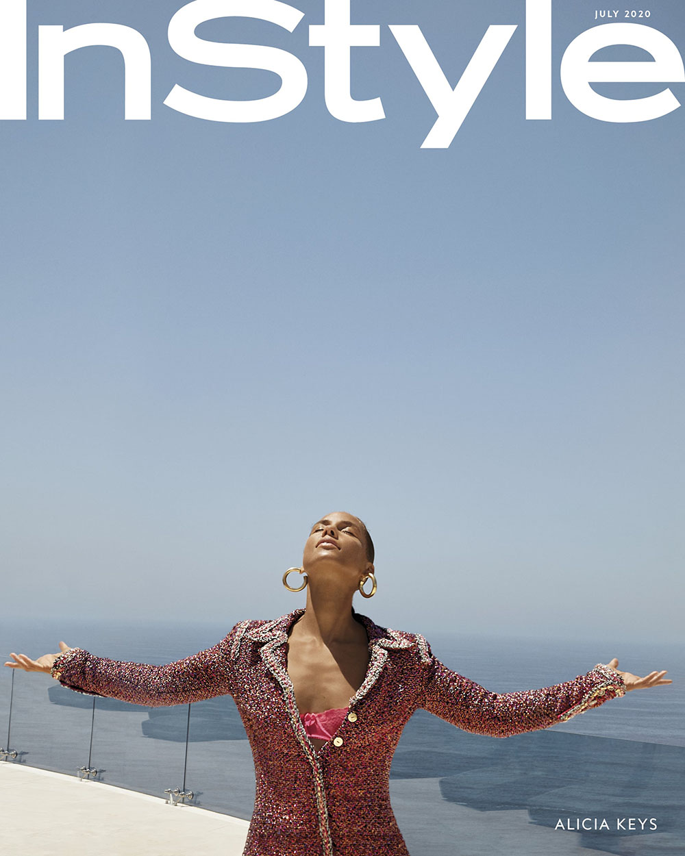 Alicia Keys covers InStyle US July 2020 by Swizz Beatz, Egypt and Genesis Dean