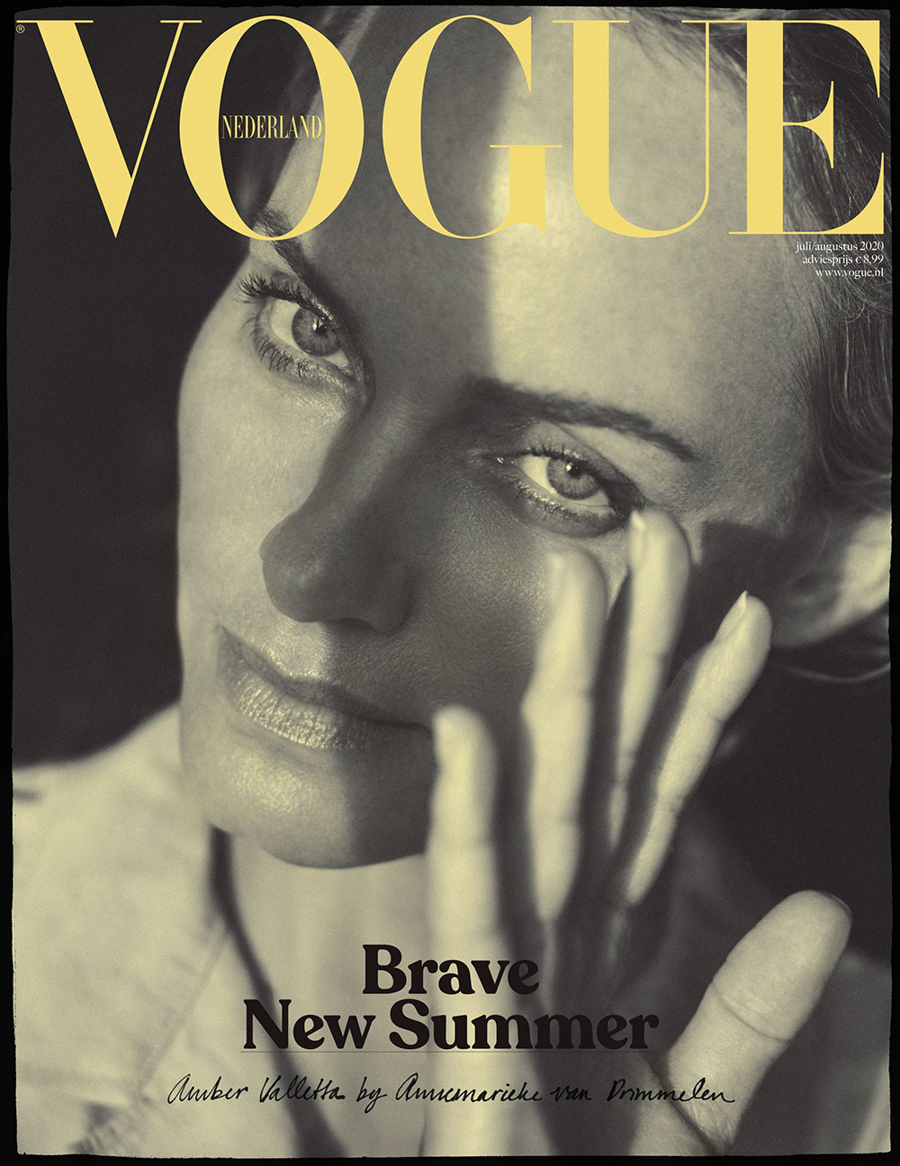 Amber Valletta covers Vogue Netherlands July August 2020 by Annemarieke van Drimmelen