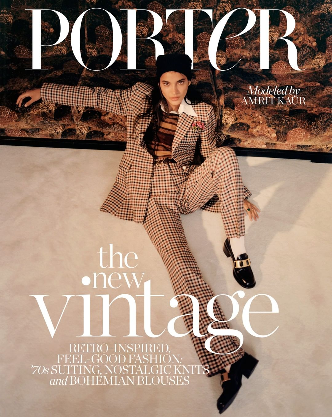 Amrit covers Porter Magazine July 27th, 2020 by Quentin De Briey